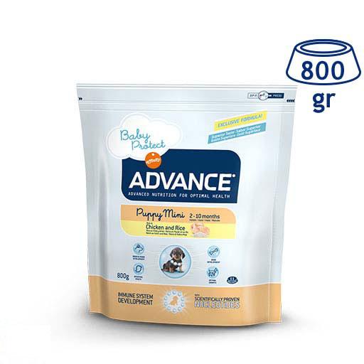 Ração para Cão Mini Júnior Protect Frango Affinity Advance (emb. 800 gr)