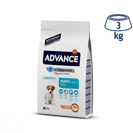 Ração para Cão Mini Júnior Protect Frango e Arroz  Affinity Advance (emb. 3 kg)