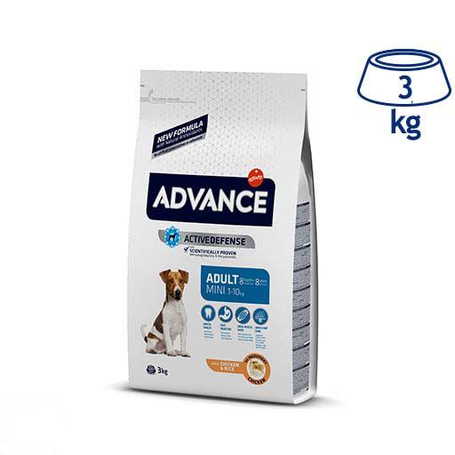 Ração para Cão Mini Adulto Frango e Arroz Affinity Advance (emb. 3 kg)
