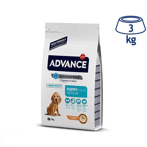Ração para Cão Medium Júnior Protect Frango e Arroz Affinity Advance (emb. 3 kg)