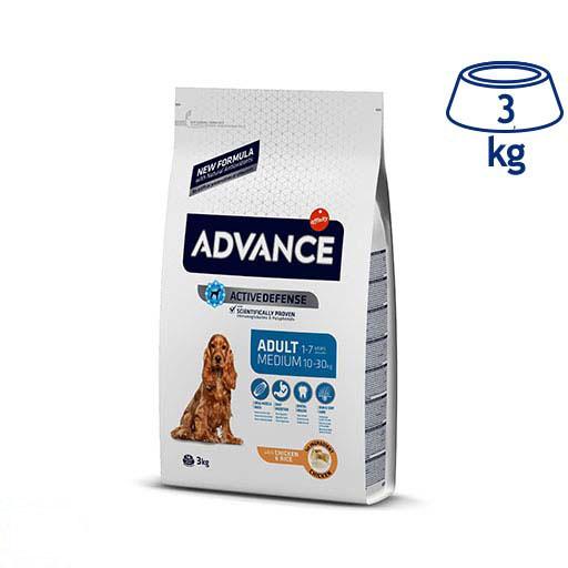 Ração para Cão Medium Adulto Frango e Arroz Affinity Advance (emb. 3 kg)