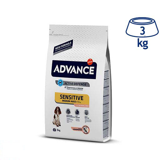 Ração para Cão Sensitive Salmão e Arroz Affinity Advance (emb. 3 kg)