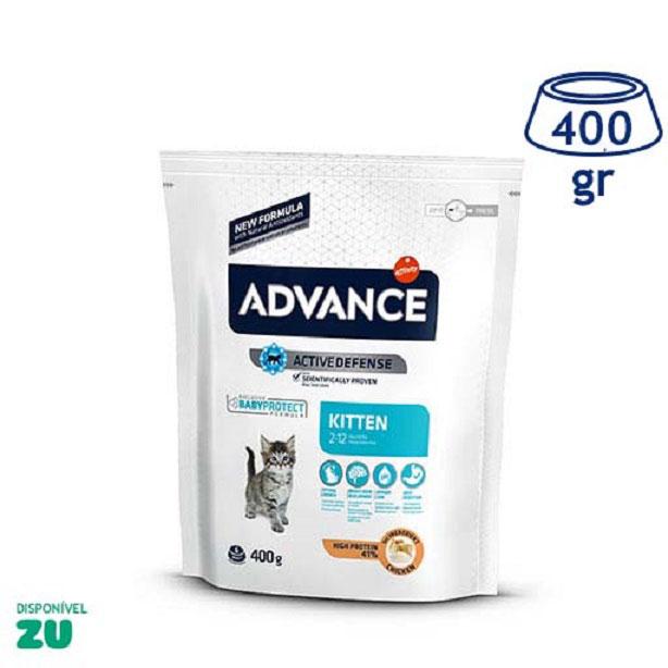 Ração para Gato Júnior Frango e Arroz Affinity Advance (emb. 400 gr)