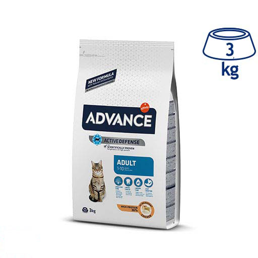 Ração para Gato Adulto Frango e Arroz  Affinity Advance (emb. 3 kg)