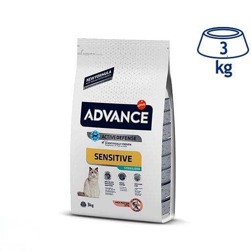 Ração para Gato Sensitive Salmão Esterilizado Affinity Advance (emb. 3 kg)