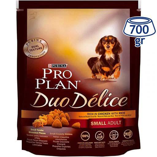 Ração para Cão Small Duo Délice Frango e Arroz Purina Pro Plan (emb. 700 gr)