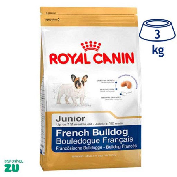 Ração para Cão Júnior Bulldog Francês Royal Canin (emb. 3 kg)