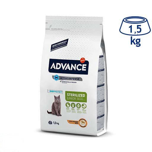 Ração para Gato Júnior Esterilizado Affinity Advance (emb. 1,5 kg)
