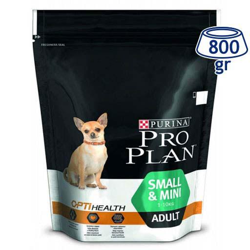 Ração para Cão Mini Adulto com Optihealth Purina Pro Plan (emb. 800 gr)