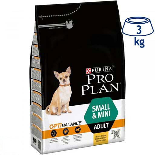 Ração para Cão Mini Adulto com Optihealth Purina Pro Plan (emb. 3 kg)