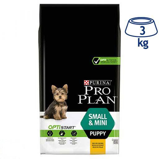Ração para Cão Mini Júnior com Optistart Purina Pro Plan (emb. 3 kg)