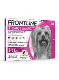 Fontline Tri-act Pipetas Antiparasitárias para Cão 2 a 5 Kg (3 unidades)