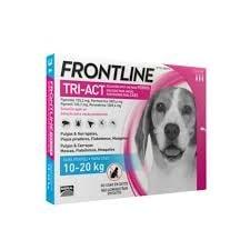 Fontline Tri-act Pipetas Antiparasitárias para Cão 10 a 20 Kg (3 unidades)
