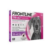 Fontline Tri-act Pipetas Antiparasitárias para Cão 20 a 40 Kg (3 unidades)
