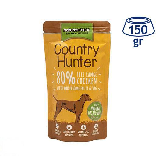 Comida Húmida para Cão Country Hunter Saquetas Frango Natures Menu (emb. 150 gr)