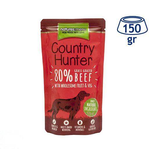 Comida Húmida para Cão Country Hunter Saquetas Carne de vaca Natures Menu (emb. 150 gr)