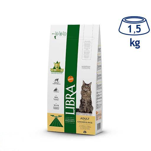 Ração para Gato Adulto Frango e Arroz Affinity Libra (emb. 1,5 kg)