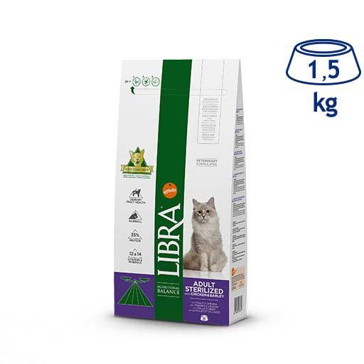 Ração para Gato Esterilizado Frango and Cevada Affinity Libra (emb. 1,5 kg)