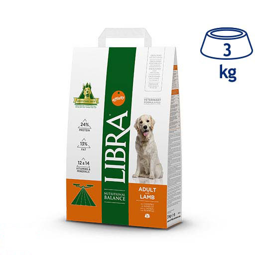 Ração para Cão Adulto Cordeiro Affinity Libra (emb. 3 kg)