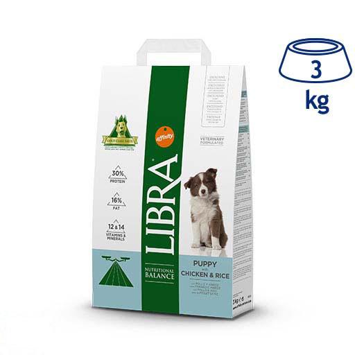 Ração para Cão Júnior Frango e Arroz Affinity Libra (emb. 3 kg)