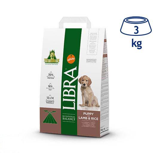 Ração para Cão Júnior Cordeiro e Arroz Affinity Libra (emb. 3 kg)