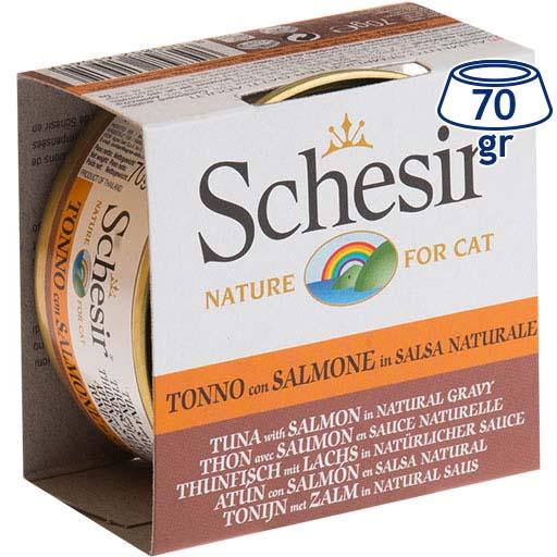 Comida Húmida para Gato Atum/Salmão em Molho Schesir (emb. 70 gr)
