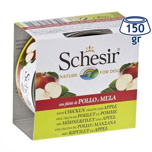Comida Húmida para Cão Frango/Maça Schesir (emb. 150 gr)