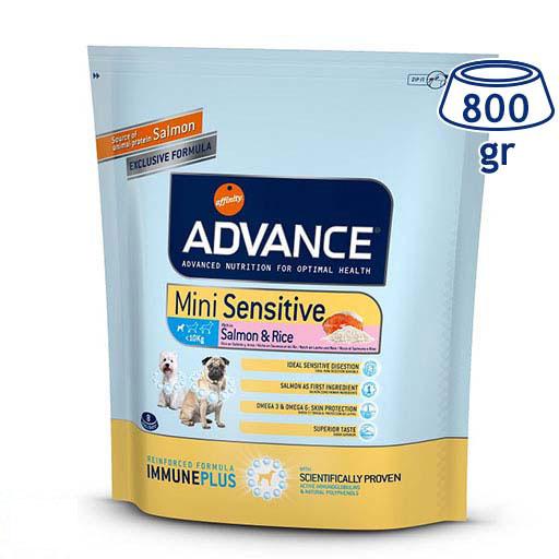 Ração para Cão Mini Sensitive Salmão Affinity Advance (emb. 800 gr)