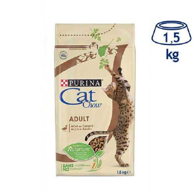 Ração para Gato  Pato Adulto Purina Cat Chow (emb. 1,5 kg)