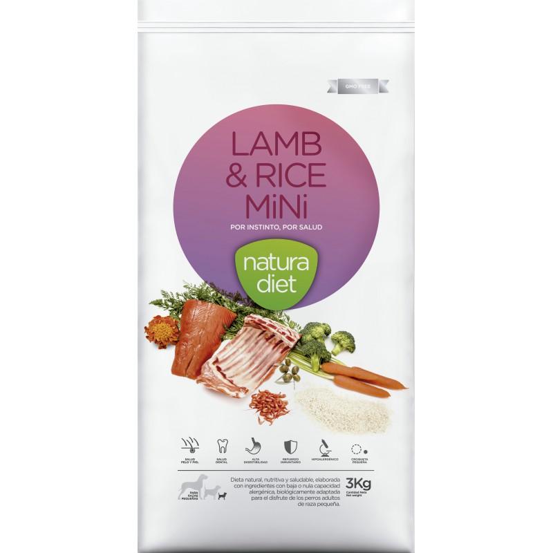 Ração para Cão Lamb & Rice Mini Natura Diet (emb. 3kg)
