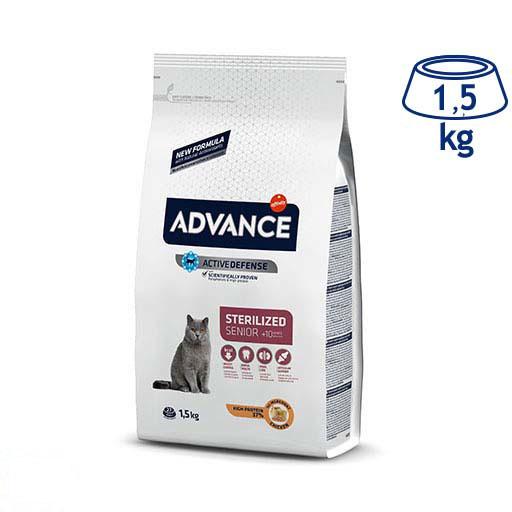 Ração para Gato Sénior + 10 Anos Esterilizado Affinity Advance (emb. 1,5 kg)