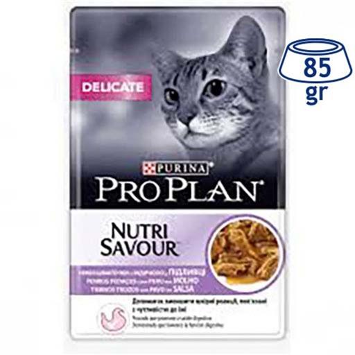 Comida Húmida para Gato Delicate Perú Purina Pro Plan (emb. 85 gr)