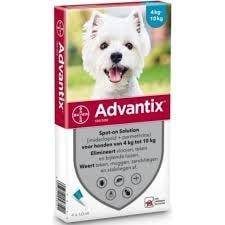 Advantix Pipetas Antiparasitárias para Cão 4 a 10 kg (4 unidades)