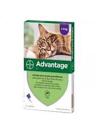 Advantage Pipetas Antiparasitárias para Gato mais de 4 kg (4 unidades)