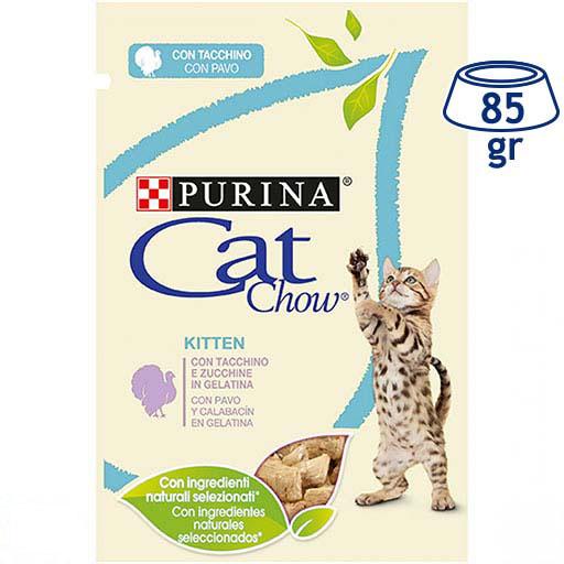 Comida Húmida para Gatinho Peru e Courgete Purina Cat Chow (emb. 85 gr)