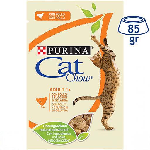 Comida Húmida para Gato Frango e Courgete Purina Cat Chow (emb. 85 gr)