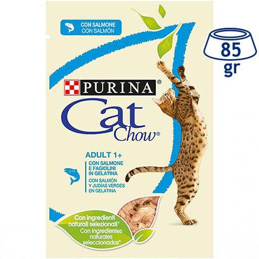 Comida Húmida para Gato Salmão e Feijão Purina Cat Chow (emb. 85 gr)