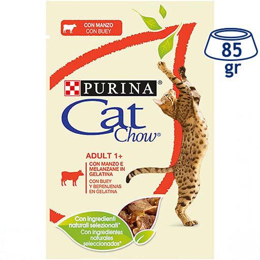 Comida Húmida para Gato Vaca e Beringela Purina Cat Chow (emb. 85 gr)
